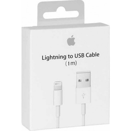 Apple USB to Lightning Λευκό 1m (MD818ΖΜ/Α) (Retail Package)