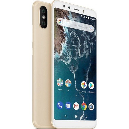 Xiaomi Mi A2 (128GB) Gold (Δώρο τζαμάκι προστασίας οθόνης + Handsfree)