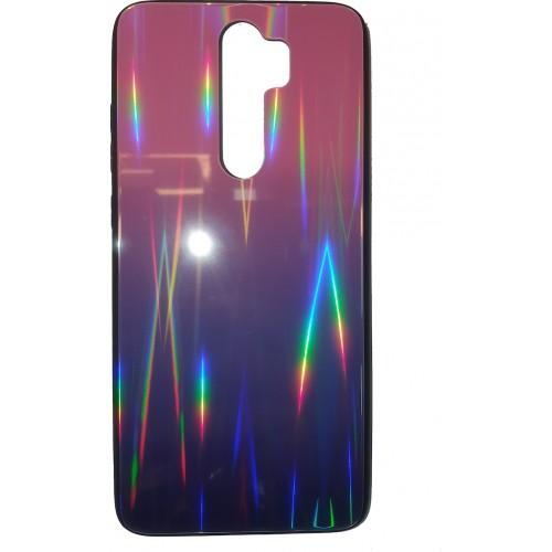 Θήκη Aurora Glass case για Xiaomi Redmi Note 8 Pro pink-black