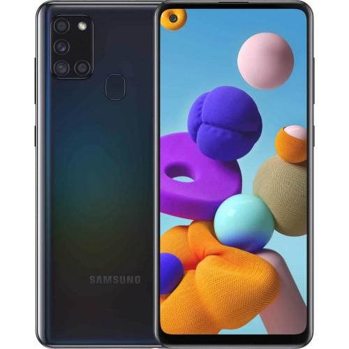 Samsung Galaxy A21S A217 32GB 3GB RAM Dual Sim Black EU (ΔΩΡΟ HANDSFREE)