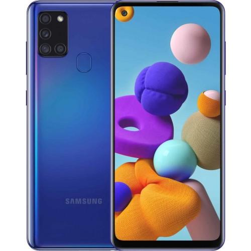Samsung Galaxy A21S A217 32GB 3GB RAM Dual Sim Blue EU (ΔΩΡΟ HANDSFREE)