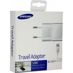 Samsung micro USB Cable & Wall Adapter Λευκό (ETA-U90EW & ECB-DU4AWE) (Retail)