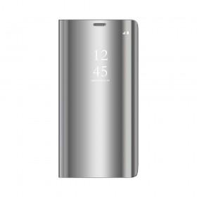 Θήκη Clear View Cover για Xiaomi Redmi Note 8 Pro - Ασημί