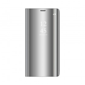 Θήκη Clear View Cover για Xiaomi Redmi Note 9S / 9 Pro - Ασημί