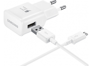 Samsung micro USB Cable & Wall Adapter Λευκό (EP-TA20EWE & ECB-DU4AWE) (Bulk)