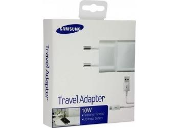 Samsung micro USB Cable & Wall Adapter Λευκό (ETA-U90EW & ECB-DU4AWE) (Retail)