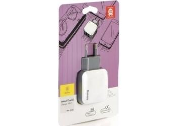Baseus Letour 2x USB Wall Adapter Λευκό