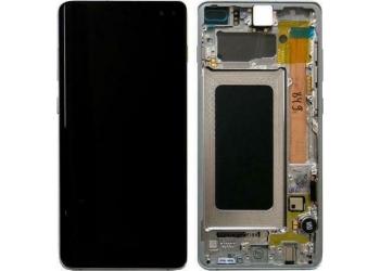 Οθόνη & Frame για Galaxy S10+ (Λευκό)